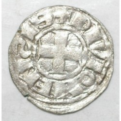 BOURGOGNE - HUGUES V - 1305 - 1315 - DENIER - R/ DIVIONENSIS