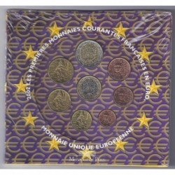 FRANCE - COFFRET EURO BRILLANT UNIVERSEL 2002 - 8 PIECES