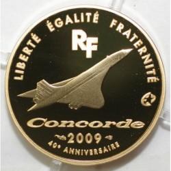 EUROPA MINTMARK - 50 EURO 2009 - OR - 40 EME ANNIVERSAIRE DU CONCORDE