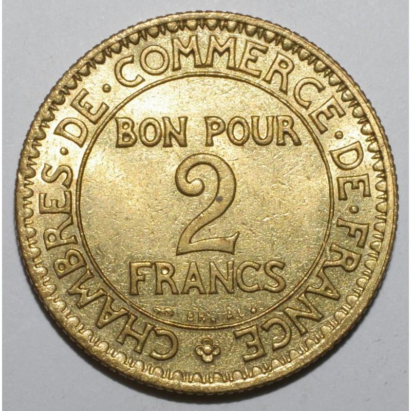 Gadoury 533 2 francs 1923 type chambre de commerce sup for Chambre de commerce de france bon pour 2 francs 1923