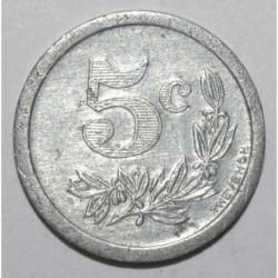 ARDENNES ( 08 ) - 5 CENTIMES 1921 SEDAN & CHARLEVILLE - CHAMBRE DE COMMERCE- TTB