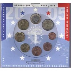 FRANCE - COFFRET EURO BRILLANT UNIVERSEL 2005 - 8 PIECES