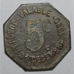 TARN ( 81 ) - 5 CENTIMES - 1920 - VILLE D'ALBI - TTB