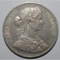 ALLEMAGNE - FRANCFORT - KM 365 - 2 THALER - DOPPELTALER 1866 - TTB+