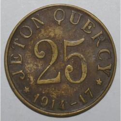 HERAULT ( 34 ) - 25 CENTIMES 1914 - 1917 - MONTPELLIER - JETON QUERCY - TTB