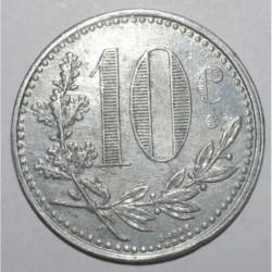ALGERIA - 10 CENTIMES 1921 - TRADE CHAMBER OF ALGER - VF+