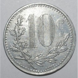 ALGERIE - 10 CENTIMES 1921 - CHAMBRE DE COMMERCE D'ALGER - TTB+