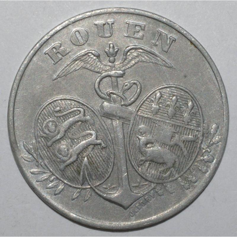 seine maritimes ( 76 ) - 5 centimes 1918 - rouen - chambre de