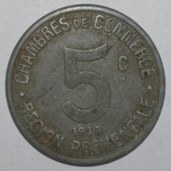 REGION PROVENCALE - 5 CENTIMES 1918 - CHAMBRE DE COMMERCE - TTB