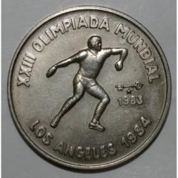 CUBA - KM 174 - 1 PESO 1983 - JEUX OLYMPIQUES D'ETE A LOS ANGELES EN 1984