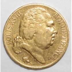 GADOURY 1028 - 20 FRANCS 1824 A - OR - BUSTE NU - TTB