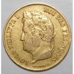 GADOURY 1106 - 40 FRANCS 1834 A - LOUIS PHILIPPE 1er - KM 747