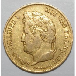 GADOURY 1106 - 40 FRANCS 1834 A - OR - LOUIS PHILIPPE - TTB