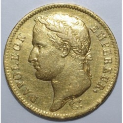 GADOURY 1084 - 40 FRANCS 1812 A - OR - NAPOLEON - REVERS EMPIRE - TTB+