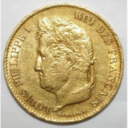 GADOURY 1106 - 40 FRANCS 1833 A - OR - LOUIS PHILIPPE - TTB
