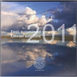 ESTONIE - COFFRET EURO BRILLANT UNIVERSEL 2011 - 8 PIECES (3.88 euros)