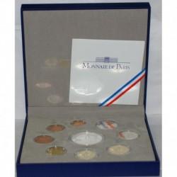 FRANCE - COFFRET BELLE EPREUVE EURO 2011 - 9 PIECES ( 13.88 euros )