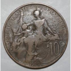 GADOURY 277 - 10 CENTIMES 1900 TYPE DUPUIS - KM 843