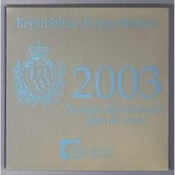 SAN MARINO - EURO MINTSET 2003 - 9 COINS