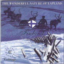 FINLAND - EURO MINTSET 2004 - 8 COINS FROM 1999 TO 2003 - LAPLAND