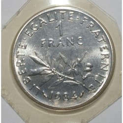 GADOURY 474 - 1 FRANC 1984 TYPE SEMEUSE - FDC - KM 925.1