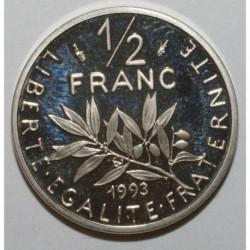 GADOURY 429a - 1/2 FRANC 1993 TYPE SEMEUSE - BE - KM 931.1