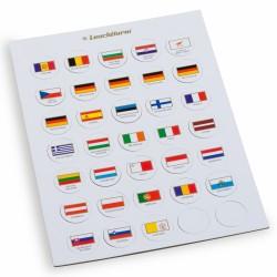 CHIPS DRAPEAUX POUR PIECES DE 2 EUROS SOUS CAPSULES - REF 333463