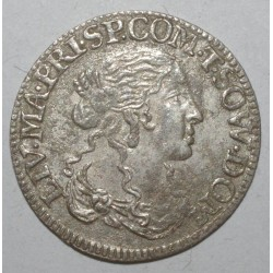 DOMBES - ANNE MARIE LOUISE D'ORLEANS - 1657 - 1693 - 1/12 ECU 1666 T - TTB+