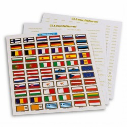 SET OF LABELS FOR EURO COINS- FLAGS - COUNTRY - YEARS - REF 321082