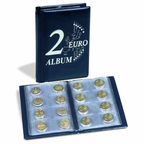 """ALBUM DE POCHE """"ROUTE"""" POUR 48 PIECES DE 2 EUROS - REF 350454"""