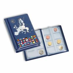 Album de poche avec 12 feuilles numismatiques pour 12 séries complètes d'euros