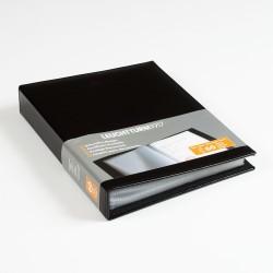 Album pour documents, avec 20, 40 ou 60 pochettes A4, noir
