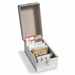 ALUMINUM COIN CASE FOR MINT SETS, POSTCARDS, CD'S, ETC. - REF 317821