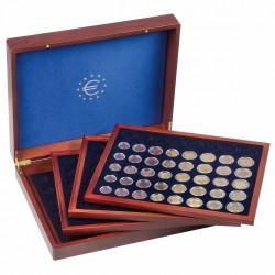 VOLTERRA QUATTRO DE LUXE FOR 24 SERIES OF EURO COINS - 1 CENT TO 2 EURO - REF 347179