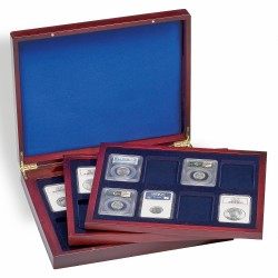 VOLTERRA TRIO DE LUXE PRESENTATION CASE WITH 3 WOODEN TRAYS, FOR 24 CERTIFIED SLABS - REF 309278
