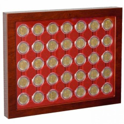 COIN SHOWCASE LOUVRE FOR 2 EURO COINS IN CAPSULES - REF 321106
