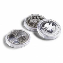 """100 CAPSULES RONDES """"ULTRA"""" POUR MONNAIES JUSQUE 32.50 MM DE DIAMETRE - REF 346517"""