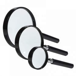 MAGNIFIER WITH HANDLE - LENS 50MM X4, LENS 75 MM X3 OR LENS 90MM X2 - REF 337993-308387-321182