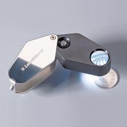 LED FOLDING MAGNIFIER - 10X MAGNIFICATION - BLACK - LENS 18MM - REF 329828
