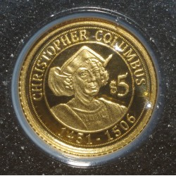 NAURU - 5 DOLLARS 2010 - OR - CHRISTOPHE COLOMB - BELLE EPREUVE