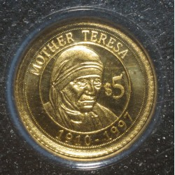 NAURU - 5 DOLLARS 2010 - OR - MERE THERESA - BELLE EPREUVE