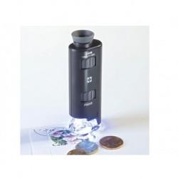 MICROSCOPE AVEC ZOOM ET LED, GROSSISSEMENT X60 À X100 - REF 313090