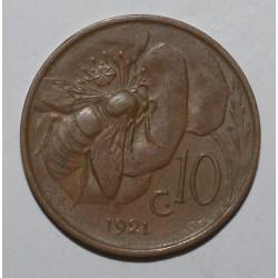 ITALIE - KM 60 - 10 CENTESIMI - 1921- VICTOR EMMANUEL III