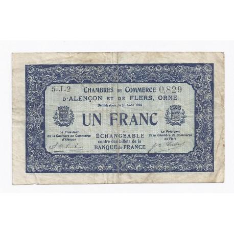 61 alencon et flers 50 centimes 1915 chambre de commerce normandie orne tres tres beau - Chambre de commerce alencon ...