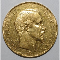 GADOURY 1111 - 50 FRANCS 1857 A - OR - NAPOLÉON III - COUP SUR TRANCHE - KM 758