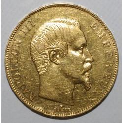 GADOURY 1111 - 50 FRANCS 1857 A - OR - NAPOLEON III - TTB - COUP SUR TRANCHE