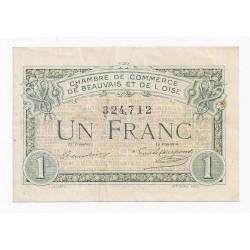 60 - BEAUVAIS - 1 FRANC 1920 - CHAMBRE DE COMMERCE - OISE - TRES TRES BEAU