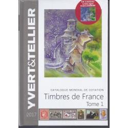 TIMBRES DE FRANCE 2017 - YVERT ET TELLIER - TOME 1