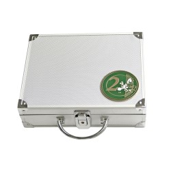 ALUMINIUM CASE FOR 210 x 2 EURO COINS WITHOUT CAPSULES - REF 174/SAFE
