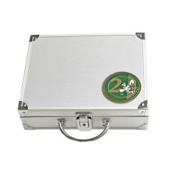 MALLETTE ALU POUR 210 PIECES DE 2 EUROS SANS CAPSULES - REF 174/SAFE